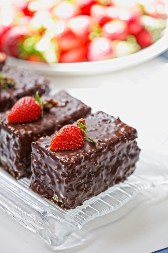 Brownie rabarbarowe